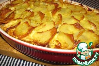 Картофельная запеканка с сельдью