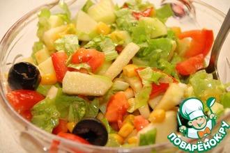 Салат с кукурузой и яблоками