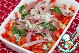 Итальянский этнический салат с нутом