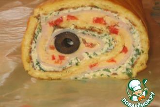 Праздничный сырный рулет