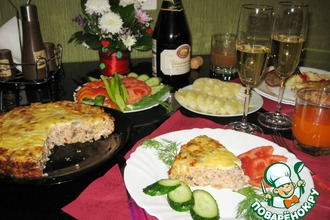 """Закусочный пирог из грибов, фасоли и сыра """"Счастливый вечер"""""""