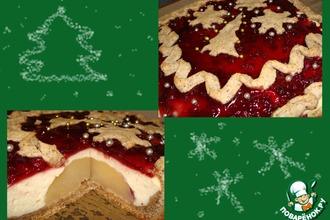 Рождественский творожный пирог