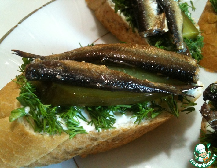 Закуска-бутерброд под водочку