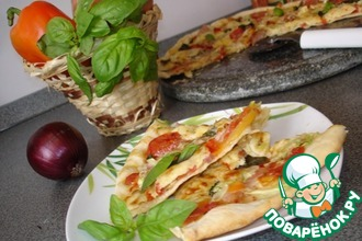 Пицца по-тоскански с овощами