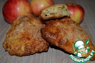 Сконы с запеченным яблоком и сыром