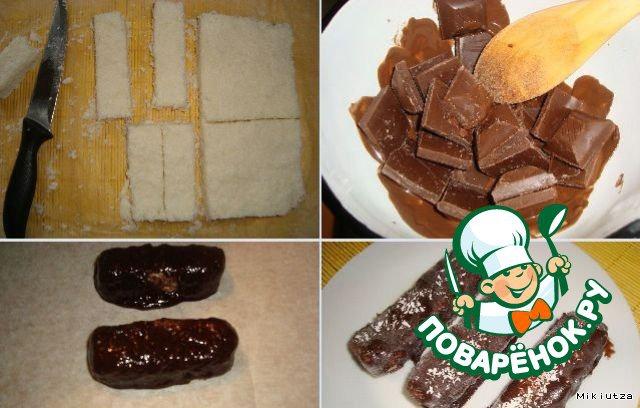 4. Растапливаем шоколад: маленькие кусочки шоколада положить в огнеупорную миску и поставить над кастрюлей с кипящей водой.