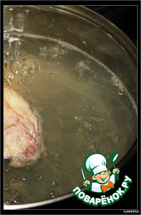 Варить курицу в 1,25л воды 15 минут.