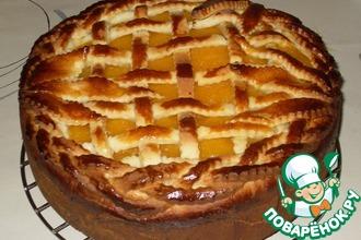Ореховый пирог с курагой