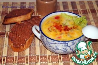Британский суп из эля с сыром