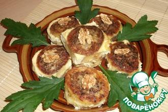 Картофельные роллы с грецким орехом
