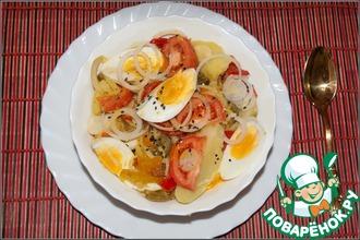 Салат картофельный с перцем и горчичным маслом