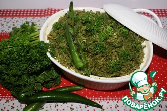 Зеленый рис по-мексикански