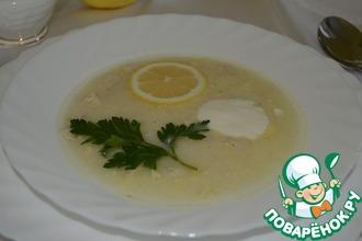 Авголемоно-греческий суп с лимоном