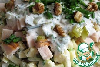 Немецкий селедочный салат