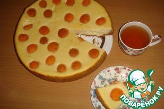 Творожно-сырный пирог с абрикосами