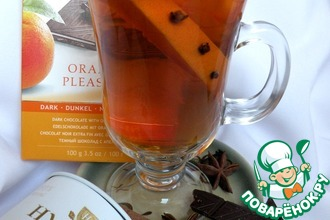 Черный чай с амаретто и апельсином