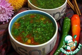 Суп с машем и томатами