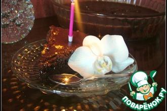 Шоколадный пирог с шоколадно-ореховой глазурью