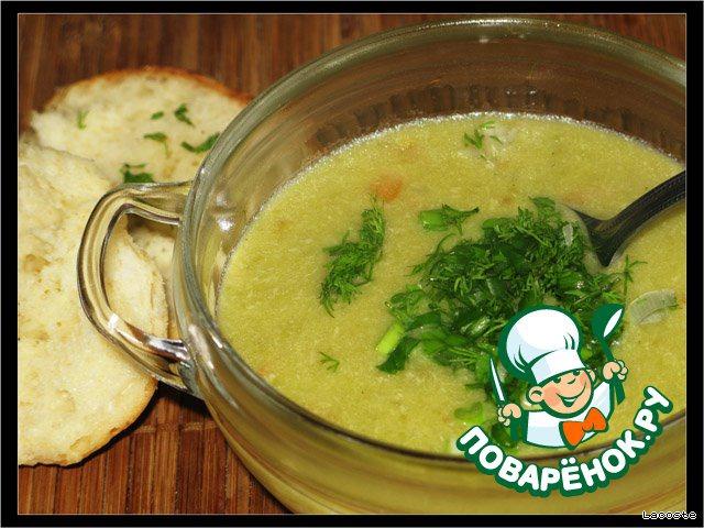 Подать суп со свежей зеленью.   Приятного аппетита!