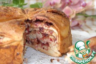 Пирог с клюквой и кедровой пастой