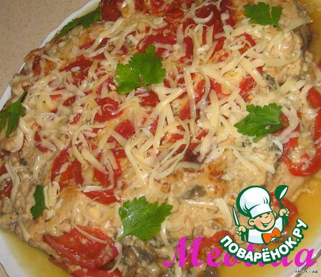 Посыпаем тертым сыром и зеленью...   Приятнейшего Вам аппетита! :)    P.S.... мужчины приходят от этого блюда в состояние дикого восторга... ;-)