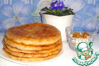 Постные лепёшки с фасолью и орехами
