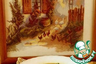 Постный суп с домашней лапшой и белыми грибами