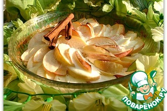 Яблочный десерт под маскарпоне с медом