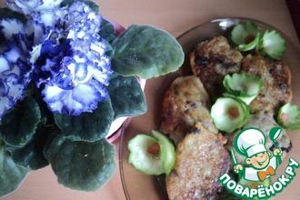 Картофельные оладушки с фасолью и грибами