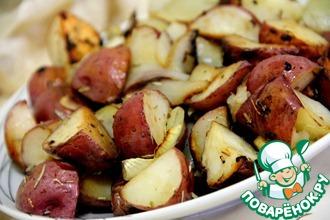 Запеченый картофель с чесноком