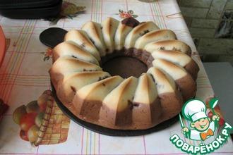 Шоколадный кекс-рулет с шоколадной начинкой