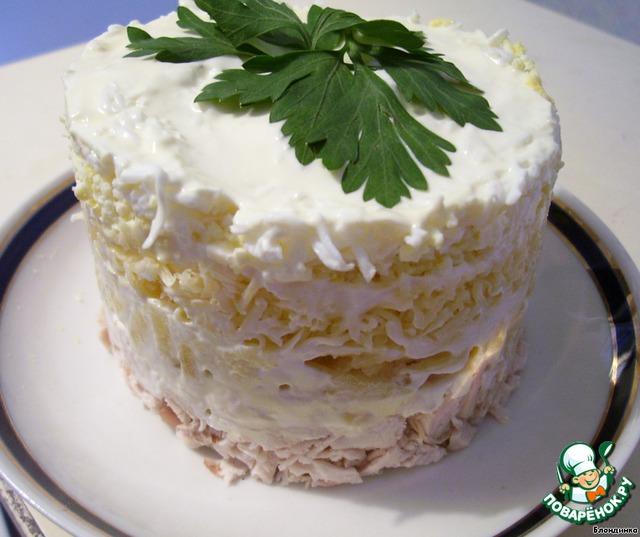 Обычно я делаю этот салат в салатнике, но можно сделать порционно