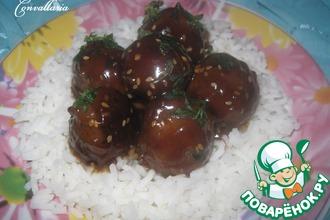 """Мясные шарики """"терияки"""" (Teriyaki meatballs)"""