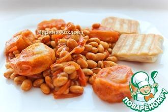 Фасоль тушеная с овощами и галушками с томатом. Постное блюдо
