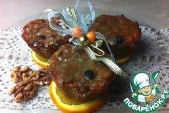 Морковно-ореховый десерт с изюмом в лаймовой глазури