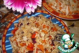 Острый рис с овощами