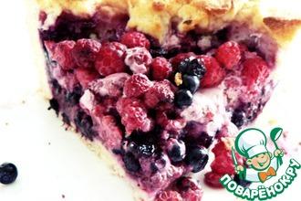 Дрожжевой пирог с лесными ягодами