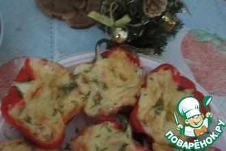 Перцы, фаршированные творогом и сыром