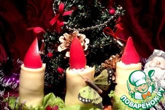 """""""Новогодние свечи"""" для фуршетного стола"""