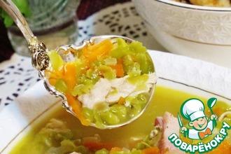 Гороховый суп с хрустящими крутонами