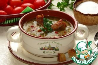 Суп из гороха Орегон и копченых ребрышек