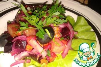 Винегрет из запечённых овощей