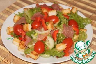 Салат с сельдереем и беконом