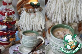 Замороженные рождественские сливки в горячие напитки