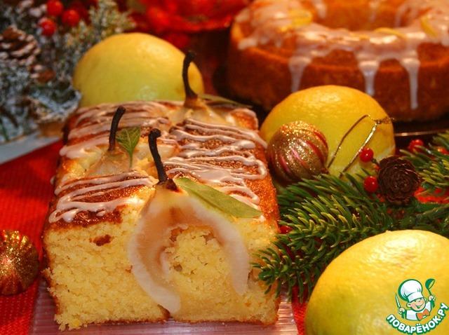 Готовым кексам дать остыть в форме минут 10 и затем освободить от нее.   Глазурь:    Приготовить из сахарной пудры постепенно добавляя оставленный (3 ст. л) лимонный сок и покрыть ею полностью остывшие кексы.