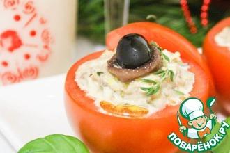 Помидоры, фаршированные салатом из тунца