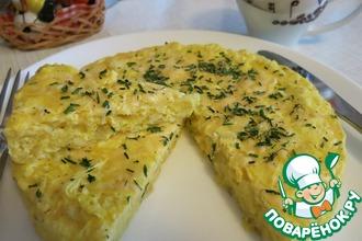 Омлет с картофелем и сыром в пароварке