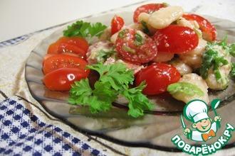 Салат из белой фасоли и помидоров