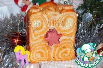 """Новогодний томатный хлеб с итальянскими травами """"Звездочки"""""""