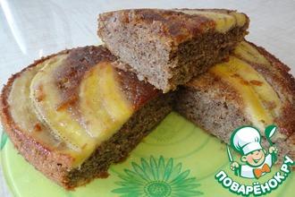 Бананово-миндальный пирог